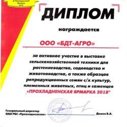 Диплом-ПРОХЛАДНЕНСКАЯ-ЯРМАРКА-2018